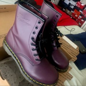 Perfect Dr Martens WOMEN'S 1460 SMOOTH purple Boot